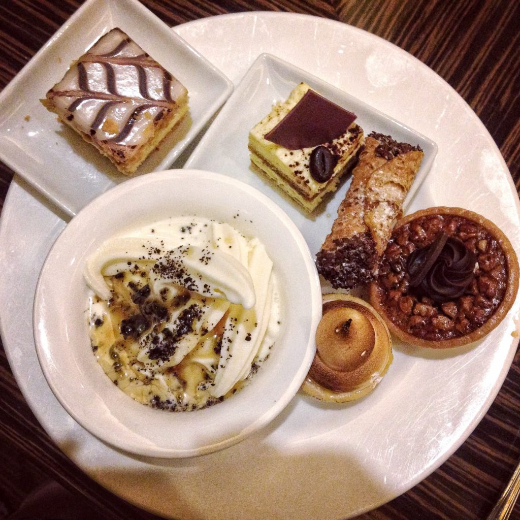 A sample of desserts at the Bellagio buffet in Las Vegas