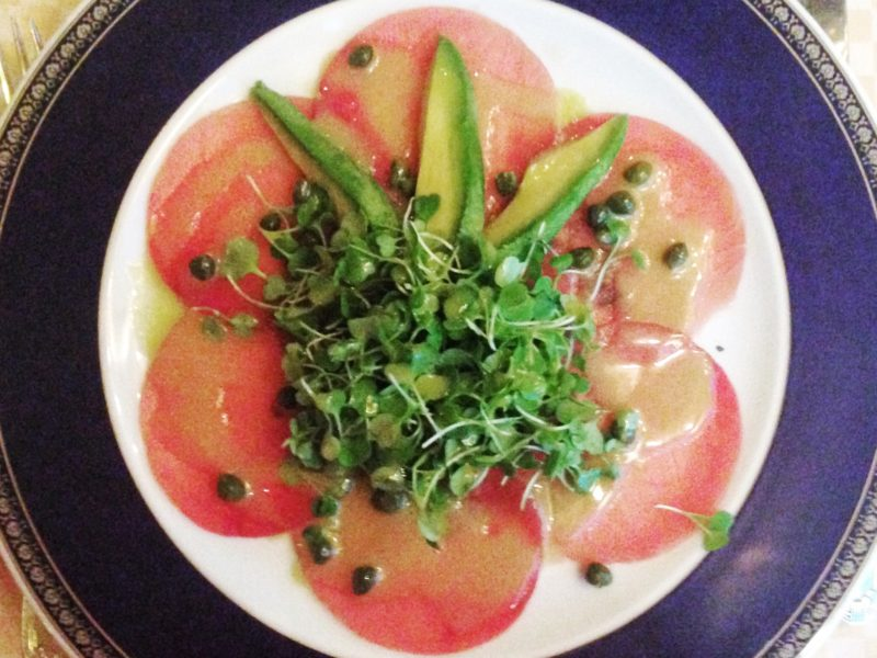 Tuna carpaccio with avocado at Zefferino in Las Vegas