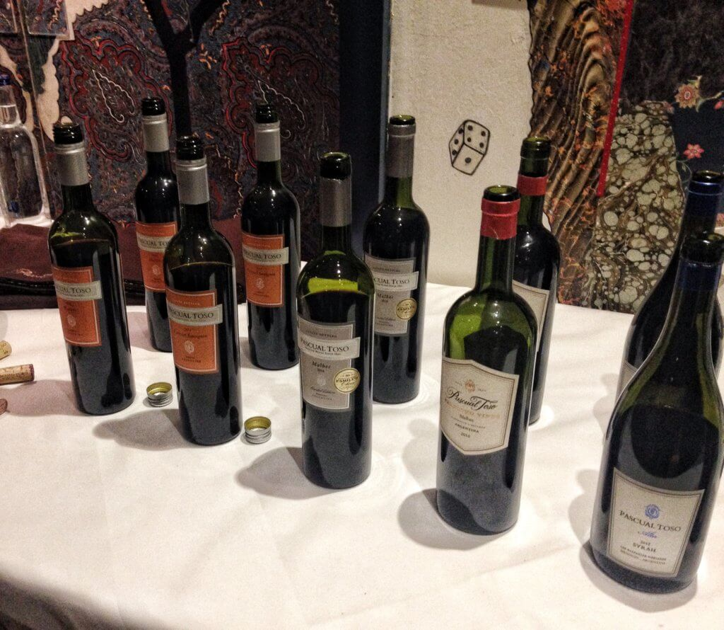 A selection of bottles of Pascual Toso wine