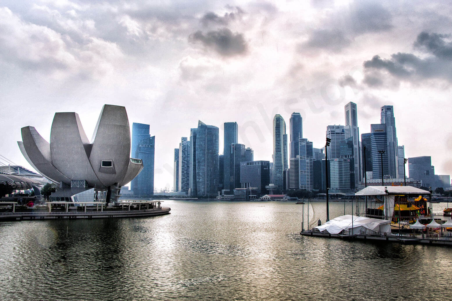 Travel in Singapore: Marina Bay after a storm