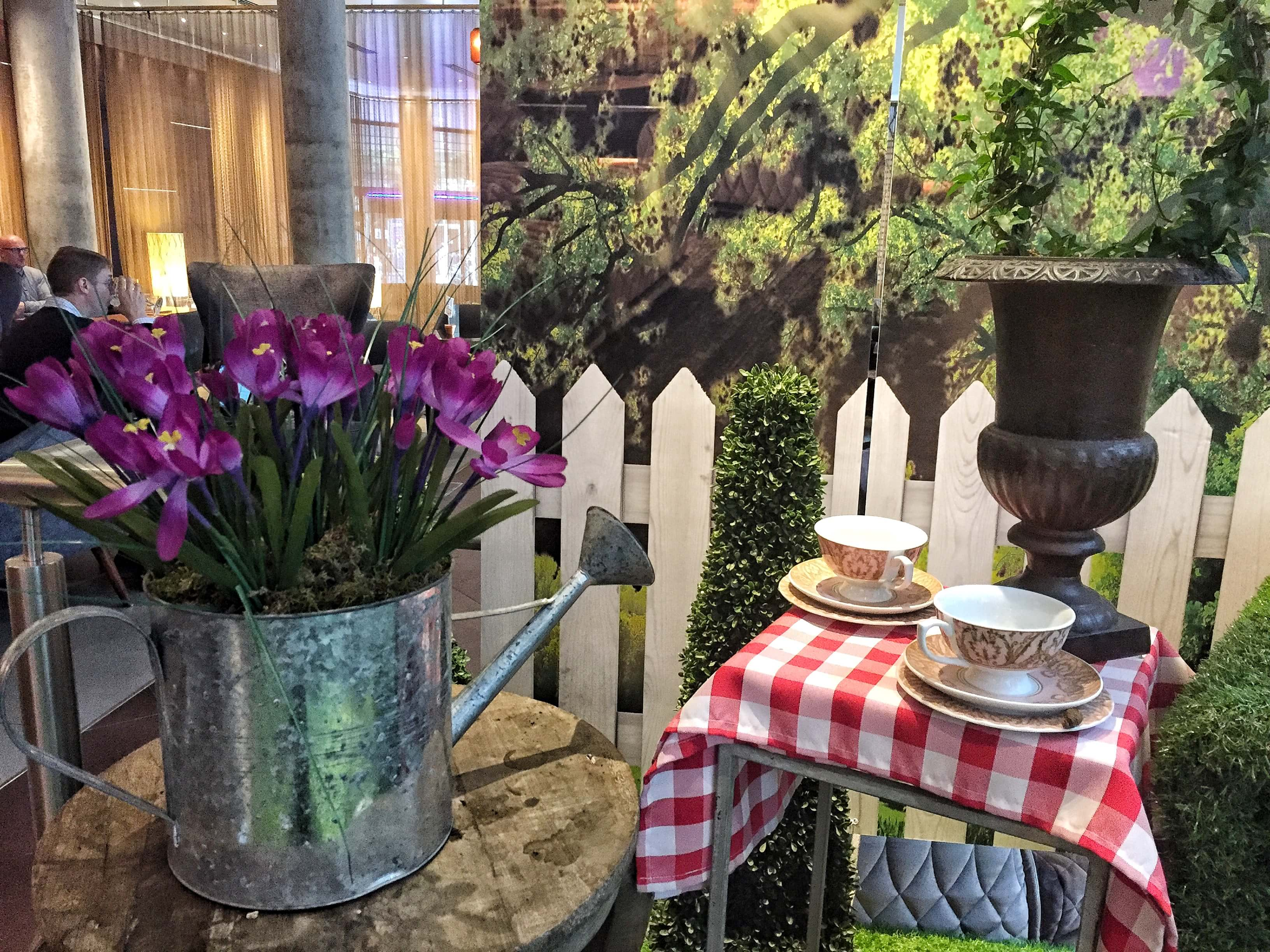 The spring display at TwoRuba at the Tower Bridge Hilton, London Bridge, London