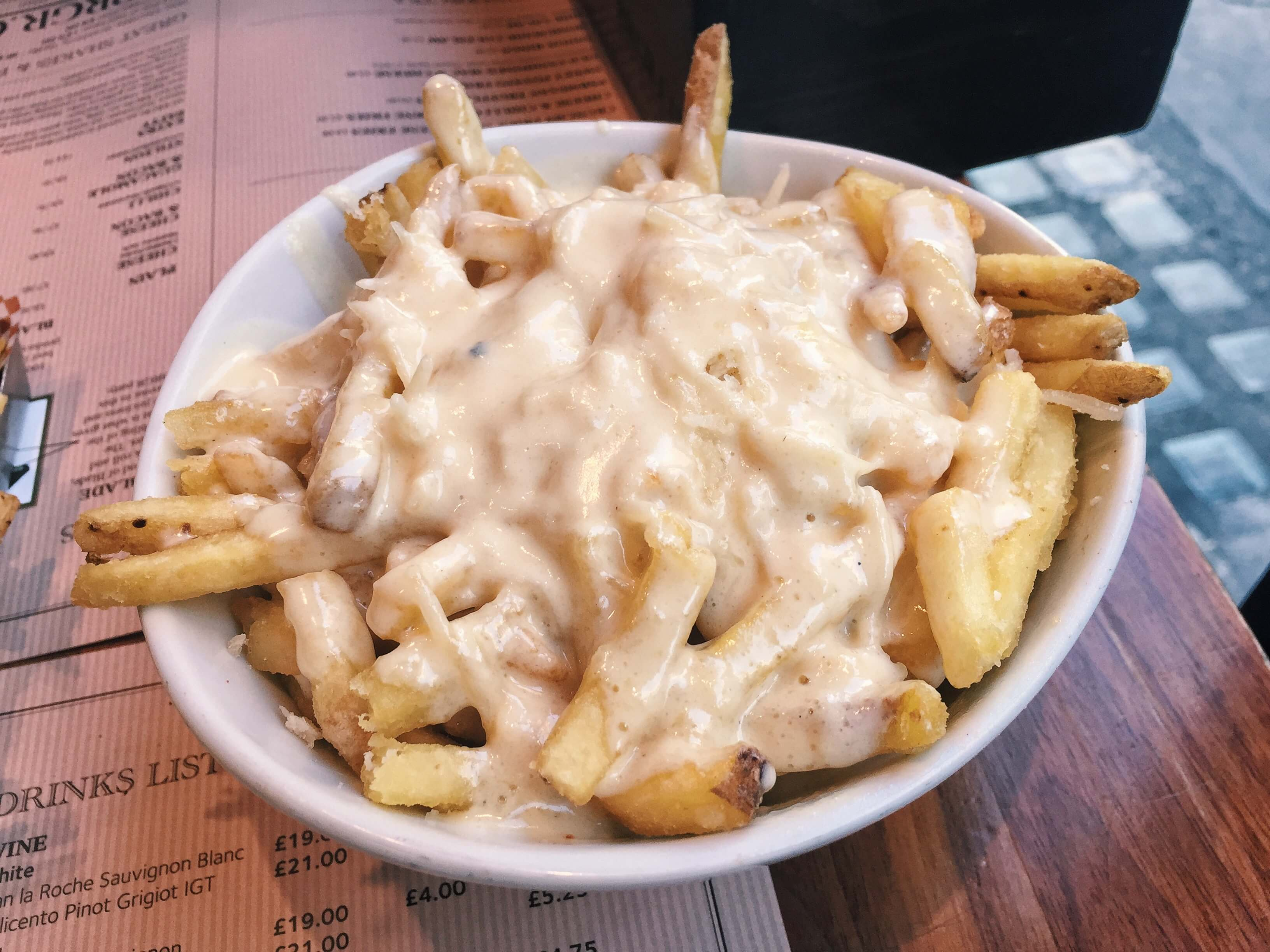 Parmesan truffle fries from BRGR.CO in Soho, London