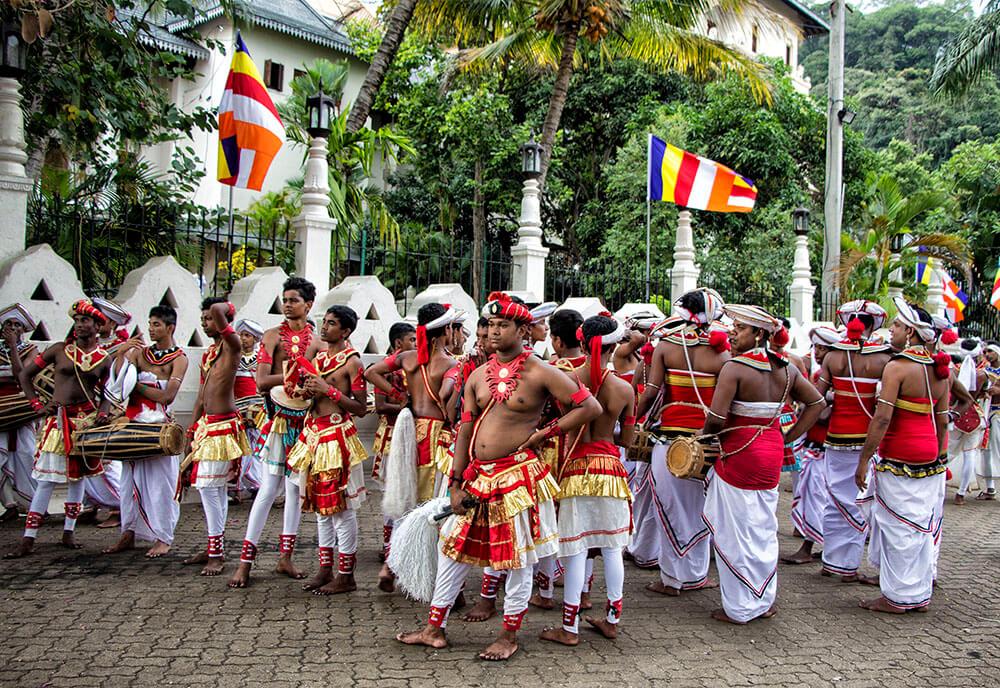 Esala Perahera dancers, Kandy, Sri Lanka