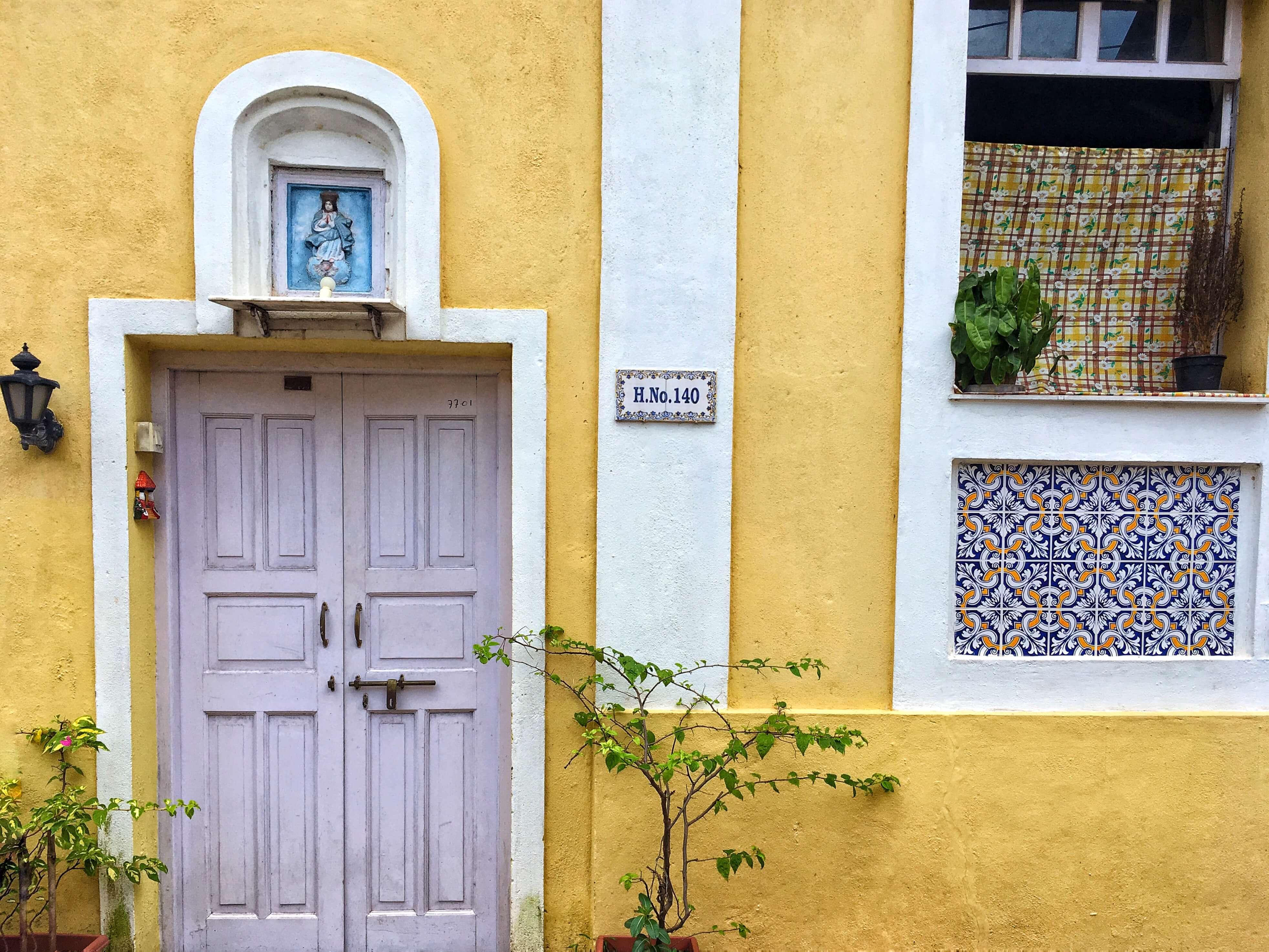 Yellow building in Panaji, Goa