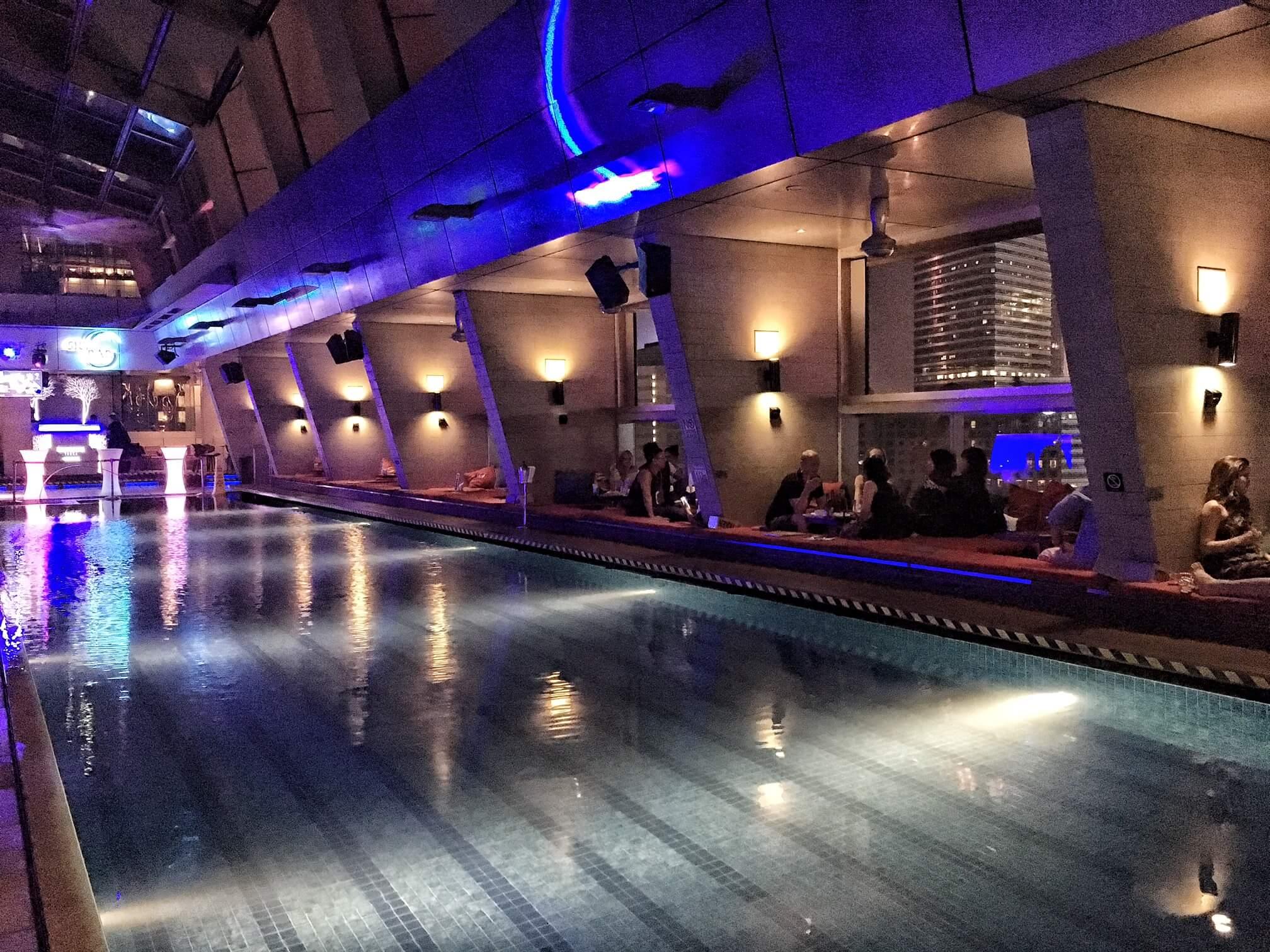 The swimming pool inside Sky Bar, Kuala Lumpur