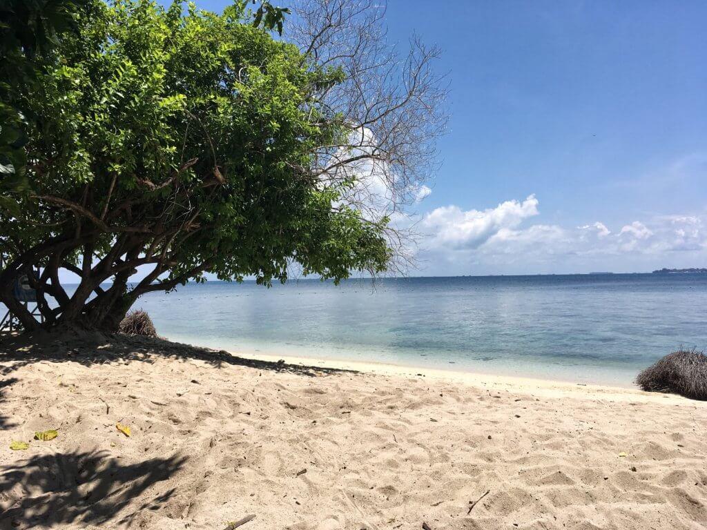 Beach on Turtle Island, Borneo, Malaysia
