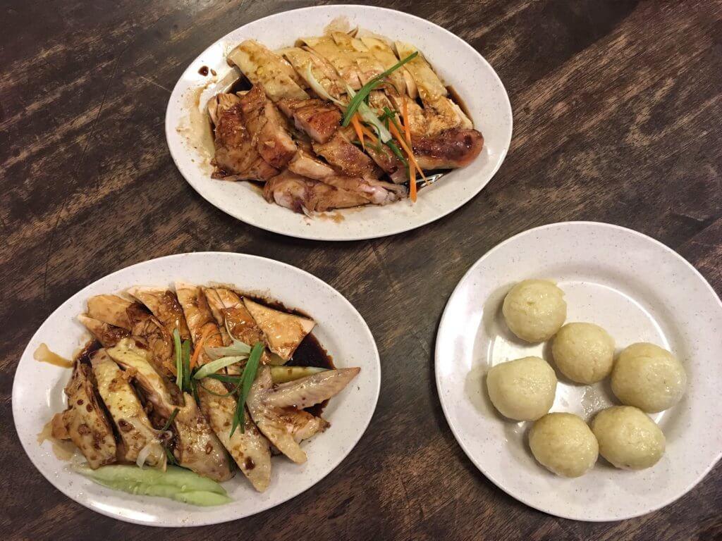 Hainan chicken rice balls in Melaka/Malacca, Malaysia