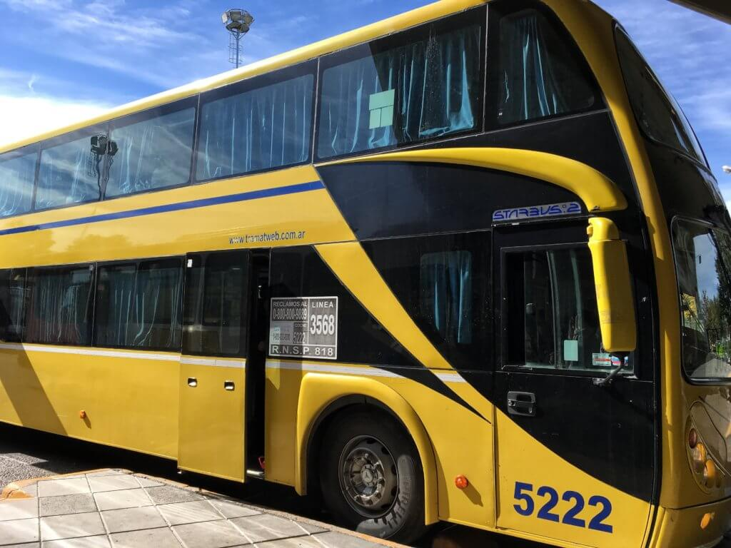 The overnight bus from Trelew to Rio Gallegos, Argentina
