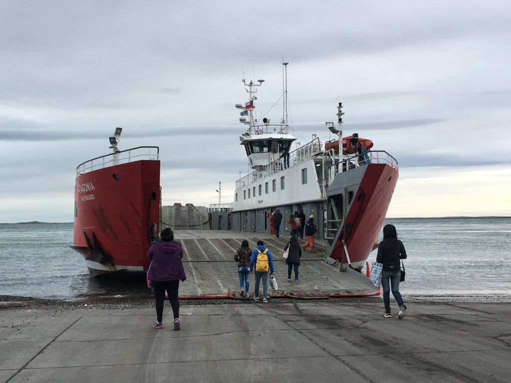 The ferry across the Magellan Strait, Chile