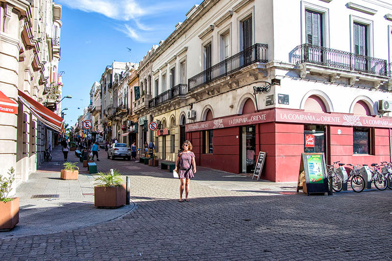 A street in Montevideo's old town or Ciudad Vieja