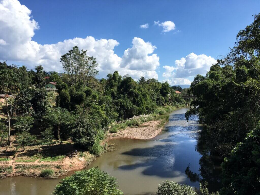 The Nam Tha river in Luang Namtha province, Laos
